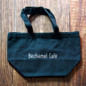 【Bechamel Cafe】キャンバス トートバッグ/ カフェ オリジナル キャンバス地 シンプル カジュアル オフホワイト|daiwa-kigyo|04