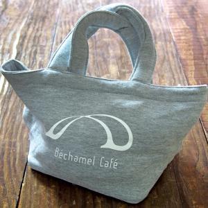 カフェ スウェット地 シンプル カジュアル ミニ ブラック グレー / Bechamel Cafe (ベシャメルカフェ) スウェット トートバッグ 小|daiwa-kigyo|02