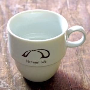 カフェ オリジナル シンプル カジュアル マグ / Bechamel Cafe ( ベシャメルカフェ ) スタッキング マグカップ|daiwa-kigyo