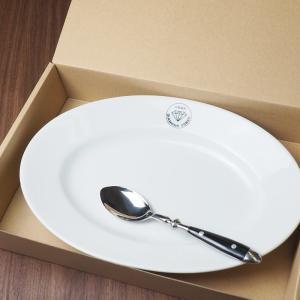 ダイヤモンドカリー カレー皿 パスタ皿 スプーン / カレー スパゲッティ おしゃれ 皿 お皿 食器 白 楕円皿 お取り寄せ ご当地|daiwa-kigyo