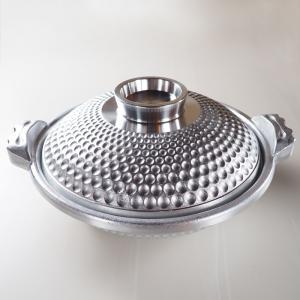 はまぐり庵 鍋 / φ28 白銀 アルミニウム合金 蛤 よろず鍋 蓋付 daiwa-kigyo