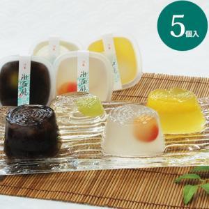 氷面鏡 5個入 お中元 ギフト 和菓子 お取り寄せ お供え お盆 ゼリー 夏|daiya