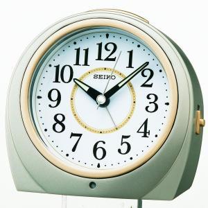 セイコー クロック 目覚まし時計 自動点灯 アナログ 夜でも見える 銀色 メタリック KR888S SEIKO|daiyu8-y