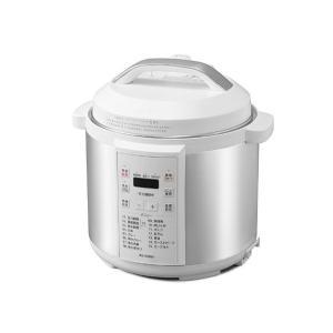 圧力鍋 電気 電器 電気圧力鍋 電器圧力鍋 6L 大容量 6役 PC-EMA6-W ホワイト アイリスオーヤマ|daiyu8-y