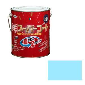 アサヒペン 油性スーパーコート 1.6L 水色 daiyu8-y