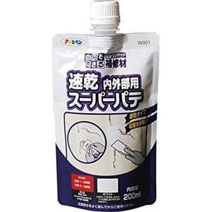 アサヒペン ワンタッチ速乾スーパーパテ 200ML W001 ホワイト|daiyu8