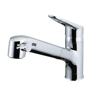 LIXIL(リクシル) INAX キッチン用 台付 浄水器内蔵シングルレバー混合水栓 エコハンドル 浄水 微細シャワー整流 ホース引出し RJF-771Y|daiyu8