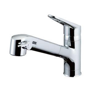 LIXIL(リクシル) INAX キッチン用 台付 浄水器内蔵シングルレバー混合水栓 エコハンドル 浄水 微細シャワー整流 ホース引出し 凍結防止水抜き仕様 RJF-771YN|daiyu8