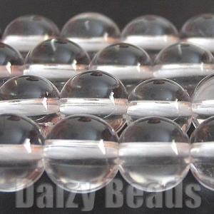 天然石 パワーストーン ビーズ 「スペシャルゲリラセール50%OFF」「水晶(天然)」 丸玉 6mm 1連(約38-40cm)
