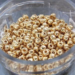 丸小ビーズ 「ゴールド(24K)」 高品質日本製丸小ビーズ ...