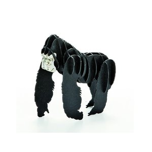 立体 ペーパークラフト ウラノ 3Dペーパーパズル ゴリラ (送料無料・小型便にて配送)|dambool-crafts
