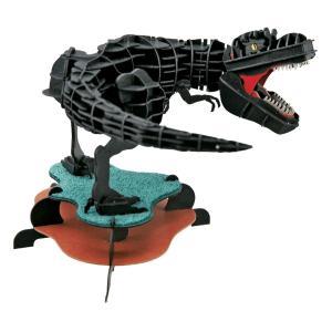 立体 ペーパークラフト ウラノ 恐竜 模型 3Dペーパーパズル DXティラノサウルス(MOVE) ブラック(送料無料・小型便にて配送)|dambool-crafts
