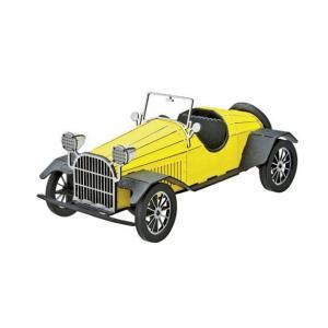 立体 ペーパークラフト ウラノ 3Dペーパーパズル クラシックカー<イエロー> (送料無料・小型便にて配送)|dambool-crafts