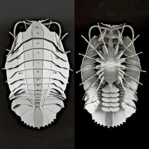 立体 ペーパークラフト ウラノ 3Dペーパーパズル ダイオウグソクムシ (グレー) (送料¥300 小型便配送可) dambool-crafts 02