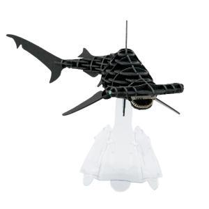 立体 ペーパークラフト パズル 模型 工作 ウラノ 3Dペーパーパズル DXシュモクザメ(MOVE)ブラック (送料無料・小型便にて配送)|dambool-crafts
