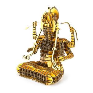 ペーパークラフト  ダンボール   FLATS  4D ART PUZZLE(フラッツ4Dアートパズル)仏段(ぶつだん)ゴールド(送料無料・小型便にて配送)|dambool-crafts