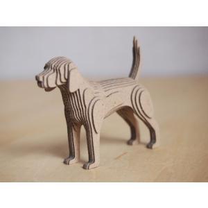 ペーパークラフト ダンボール  動物 ビーグル 段々犬 Beagle(送料¥300 小型便配送可)|dambool-crafts