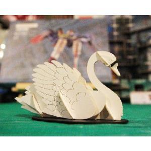 立体 ペーパークラフト ウラノ 3Dペーパーパズル 白鳥 (送料¥300 小型便配送可)|dambool-crafts