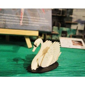 立体 ペーパークラフト ウラノ 3Dペーパーパズル 白鳥 (送料¥300 小型便配送可)|dambool-crafts|02