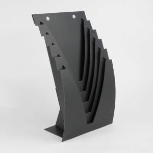 収納 インテリア 本 チラシ A4 壁掛けOK  ダンボール ブックスタンド JAVARACK J (ブラック)|dambool-crafts