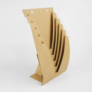 収納 インテリア 本 チラシ A4 壁掛けOK  ダンボール ブックスタンド JAVARACK J (クラフト)|dambool-crafts