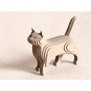 ペーパークラフト ダンボール  動物 猫 段々猫 walking(送料¥300 小型便配送可)|dambool-crafts