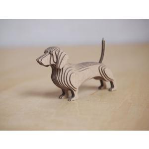 ペーパークラフト ダンボール  動物 ダックスフンド 段々犬 Dachshund(送料¥300 小型便配送可)|dambool-crafts