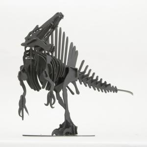 立体 ペーパークラフト ウラノ 恐竜 3Dペーパーパズル スピノサウルス(Lサイズ) (ブラック) 【台座付き】 (送料¥300 小型便配送可) dambool-crafts 02