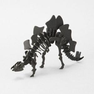 立体 ペーパークラフト ウラノ 3Dペーパーパズル ステゴサウルス(ブラック)  (送料¥300 小型便配送可)|dambool-crafts