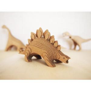 ペーパークラフト ダンボール  恐竜 DANSAURUS ステゴサウルス(送料¥300 小型便配送可)|dambool-crafts