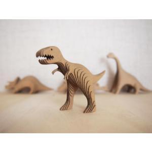 ペーパークラフト ダンボール  恐竜 DANSAURUS ティラノサウルス(送料¥300 小型便配送可)|dambool-crafts