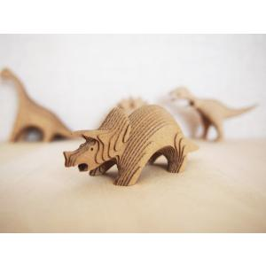 ペーパークラフト ダンボール  恐竜 DANSAURUS トリケラトプス(送料¥300 小型便配送可)|dambool-crafts