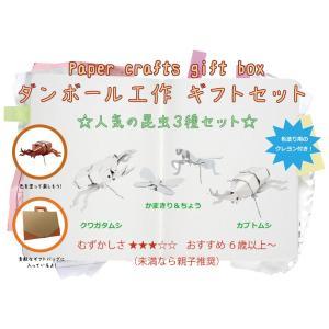 ダンボール 工作 キット クラフト 子供向け 自由研究 夏休み お土産 人気の昆虫3種セット|dambool-crafts