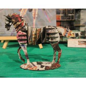 立体 ペーパークラフト ウラノ 3Dペーパーパズル ウマ(デザインカラー) (送料¥300 小型便配送可) dambool-crafts 02