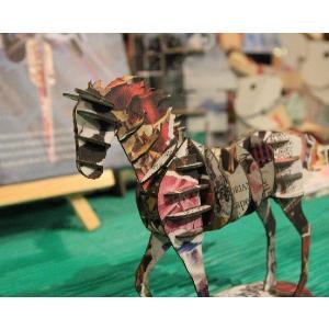 立体 ペーパークラフト ウラノ 3Dペーパーパズル ウマ(デザインカラー) (送料¥300 小型便配送可) dambool-crafts 03