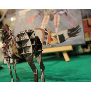 立体 ペーパークラフト ウラノ 3Dペーパーパズル ウマ(デザインカラー) (送料¥300 小型便配送可) dambool-crafts 04
