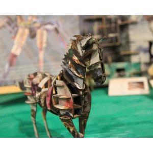 立体 ペーパークラフト ウラノ 3Dペーパーパズル ウマ(デザインカラー) (送料¥300 小型便配送可) dambool-crafts 05