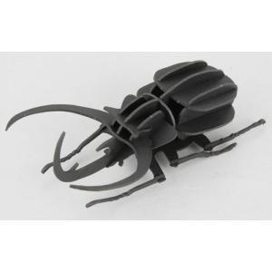 立体 ペーパークラフト ウラノ 3Dペーパーパズル コーカサスオオカブト(ブラック) 【台座付き】(送料無料・小型便にて配送)|dambool-crafts