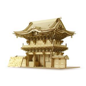 立体パズル 木製パズル プレゼント 父の日 ホビー 木のおもちゃ オススメ 建築模型 kigumi キグミ 日光東照宮 陽明門(送料無料・小型便にて配送)|dambool-crafts