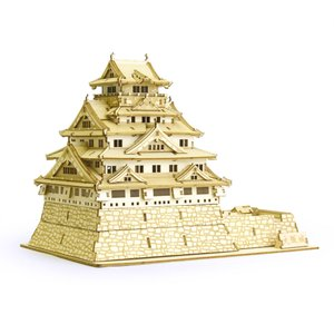 立体パズル 木製パズル プレゼント 父の日 ホビー 木のおもちゃ オススメ 建築模型 kigumi キグミ 大阪城(送料無料・小型便にて配送)|dambool-crafts