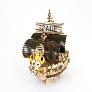 立体パズル 木製パズル プレゼント 父の日 ホビー 木のおもちゃ 建築模型 kigumi キグミ スペード海賊団の海賊船(送料無料・小型便にて配送)|dambool-crafts