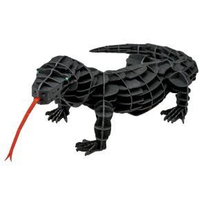 立体 ペーパークラフト ウラノ 動物 模型 3Dペーパーパズル DXコモドドラゴン(MOVE) (送料無料・小型便にて配送)|dambool-crafts