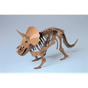ペーパークラフト 恐竜  プレゼント 工作 立体パズル トリケラトプス 俺の恐竜シリーズ 怒濤のトリケラトプス(送料無料・通常配送にて配送)|dambool-crafts