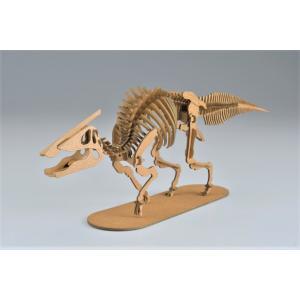 ペーパークラフト 恐竜  プレゼント 工作 立体パズル 大人向け サウロロフス 俺の恐竜シリーズ 狡猾のサウロロフス(送料無料・通常配送にて配送)|dambool-crafts