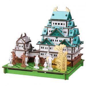 立体 ペーパークラフト ダンボール パズル ハコモ プスプス hacomo pusupusu 名古屋城 (送料無料・小型便にて配送)|dambool-crafts