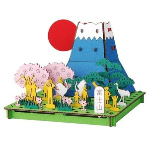 立体 ペーパークラフト ダンボール パズル ハコモ プスプス hacomo pusupusu 富士山 (送料無料・小型便にて配送)|dambool-crafts