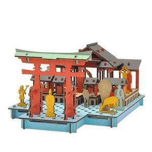 立体 ペーパークラフト ダンボール パズル ハコモ プスプス hacomo pusupusu 宮島 (送料無料・小型便にて配送)|dambool-crafts