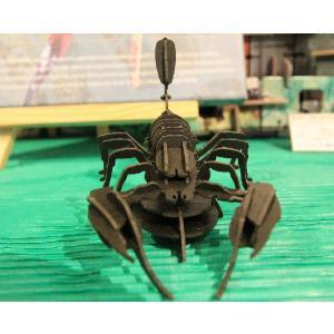 立体 ペーパークラフト ウラノ 3Dペーパーパズル サソリ (ブラック) 【台座付き】(送料¥300 小型便配送可)|dambool-crafts|02