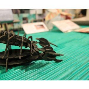 立体 ペーパークラフト ウラノ 3Dペーパーパズル サソリ (ブラック) 【台座付き】(送料¥300 小型便配送可)|dambool-crafts|03