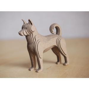 ペーパークラフト ダンボール  動物 柴犬 段々犬 Shiba(送料¥300 小型便配送可)|dambool-crafts